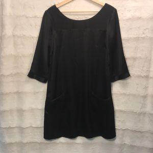 Allen Schwartz ABS Black Silk Shift Dress